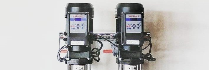Booster set with VFD water pumps